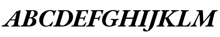 EB Garamond Bold Italic Font UPPERCASE