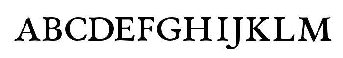 EB Garamond Regular SmallCaps Font LOWERCASE