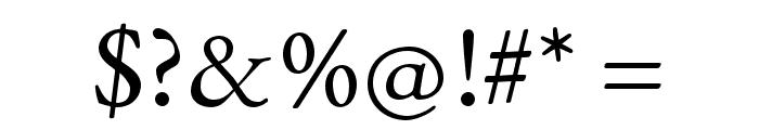 EB Garamond SmallCaps 12 Regular Font OTHER CHARS