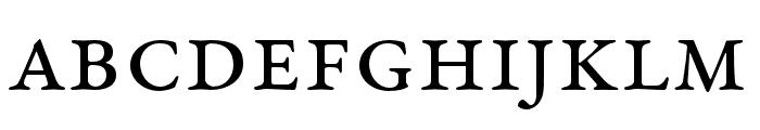 EB Garamond SmallCaps 12 Regular Font LOWERCASE