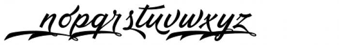 Ebbing Swash Font LOWERCASE