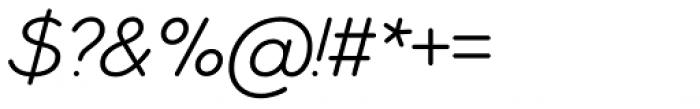 Ebnor Light Italic Font OTHER CHARS