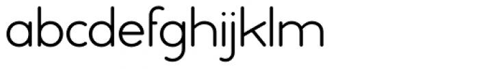 Ebnor Light Font LOWERCASE