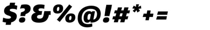 Ebony Heavy Italic Font OTHER CHARS