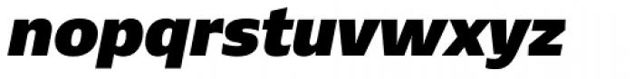 Ebony Heavy Italic Font LOWERCASE