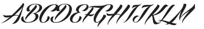 Echinos Park Script  otf (400) Font UPPERCASE