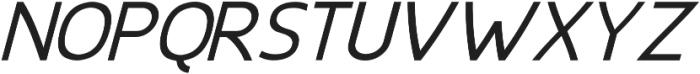 EchoTech_italic ttf (400) Font UPPERCASE