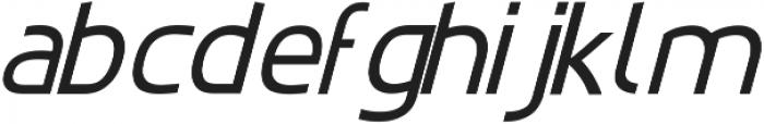 EchoTech_italic ttf (400) Font LOWERCASE