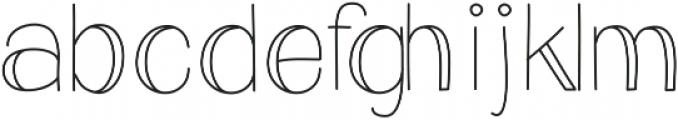 Eclipse - Kestrel Montes otf (400) Font LOWERCASE