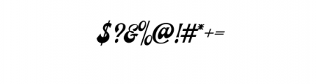 Ecentric.ttf Font OTHER CHARS
