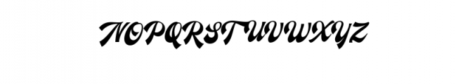 Ecentric.ttf Font UPPERCASE