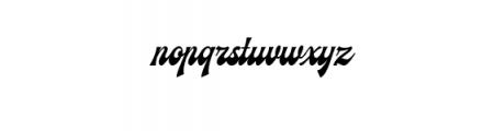 Ecentric.ttf Font LOWERCASE
