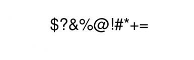 EchoTech Font OTHER CHARS