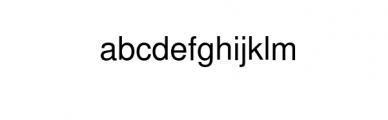 EchoTech Font LOWERCASE