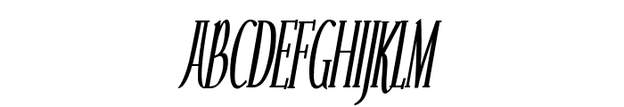 Echelon Condensed Italic Font UPPERCASE