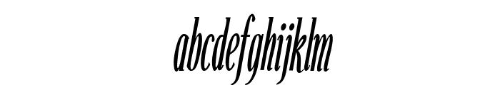 Echelon Condensed Italic Font LOWERCASE