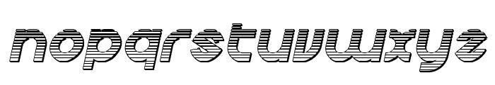 Echo Station Chrome Italic Font LOWERCASE