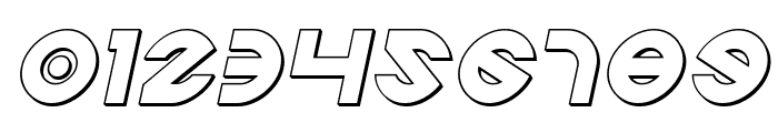 Echo Station Outline Italic Font OTHER CHARS
