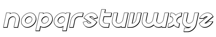 Echo Station Outline Italic Font LOWERCASE