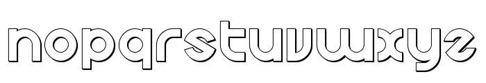 Echo Station Outline Font LOWERCASE