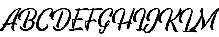 EchomotorsScriptDemo Font UPPERCASE
