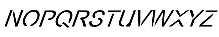 Eco-Files Italic Font UPPERCASE