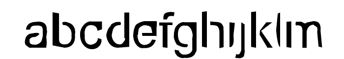 Eco-Files Rough Font LOWERCASE
