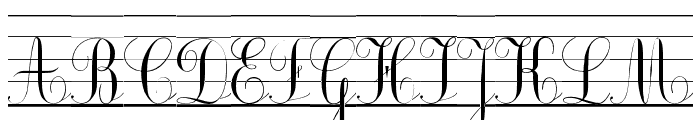 Ecolier_lignes Font UPPERCASE