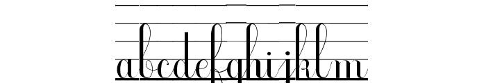 Ecolier_lignes_court Font LOWERCASE