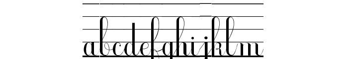 Ecolier_lignes Font LOWERCASE