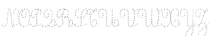 Ecolier_pointill Font UPPERCASE