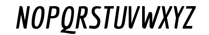 Economica-BoldItalic Font UPPERCASE