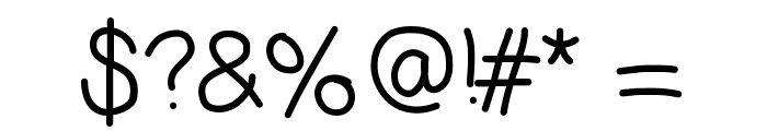 Ecriture Font OTHER CHARS