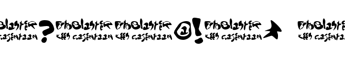 EctoBlaster Font OTHER CHARS