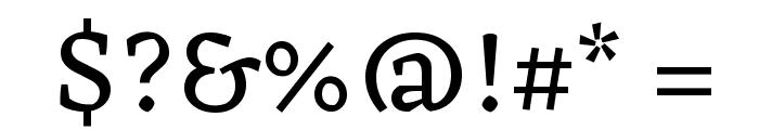 Eczar Font OTHER CHARS