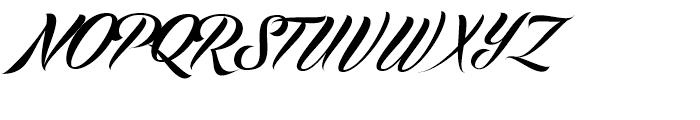 Echinos Park Script Regular Font UPPERCASE