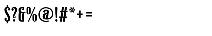 Ecliptica BT Semi Serif Font OTHER CHARS