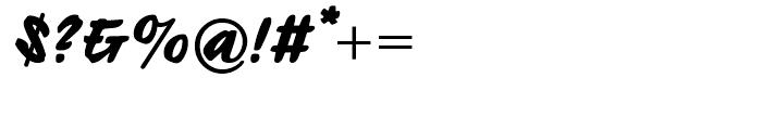 Ecsetiras Regular Font OTHER CHARS