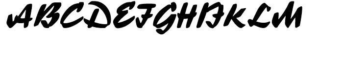 Ecsetiras Regular Font UPPERCASE