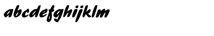Ecsetiras Regular Font LOWERCASE