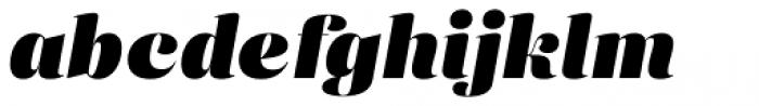 Eckhart Display Black Italic Font LOWERCASE
