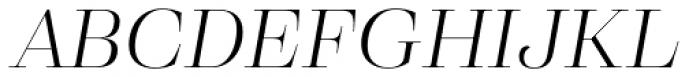 Eckhart Display Book Italic Font UPPERCASE