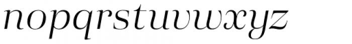 Eckhart Display Book Italic Font LOWERCASE