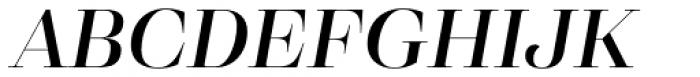Eckhart Display Demi Bold Italic Font UPPERCASE
