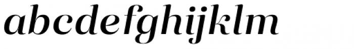 Eckhart Display Demi Bold Italic Font LOWERCASE