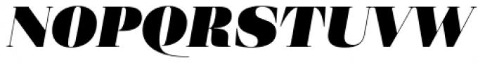Eckhart Display Extra Black Italic Font UPPERCASE