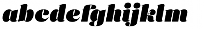 Eckhart Display Extra Black Italic Font LOWERCASE