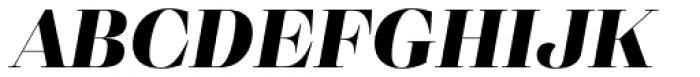 Eckhart Display Extra Bold Italic Font UPPERCASE