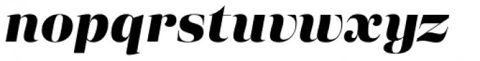 Eckhart Display Extra Bold Italic Font LOWERCASE