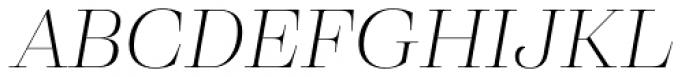 Eckhart Display Light Italic Font UPPERCASE